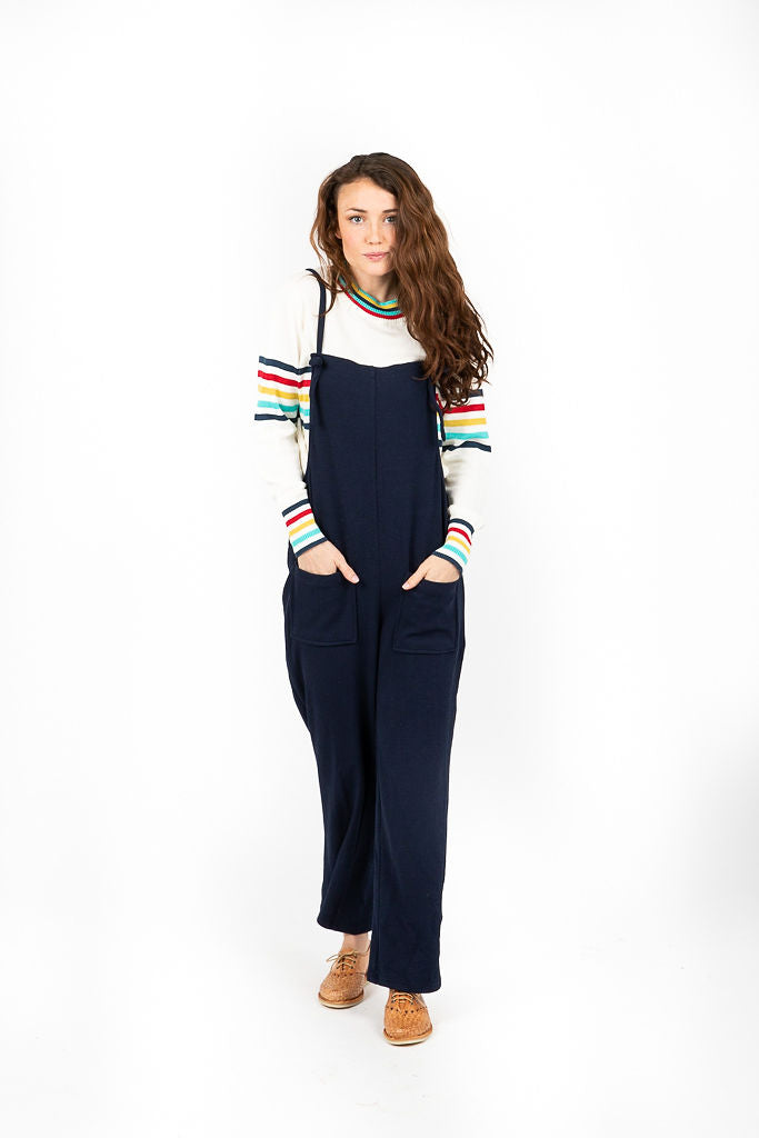 The Humphreys Knit Overalls in Navy