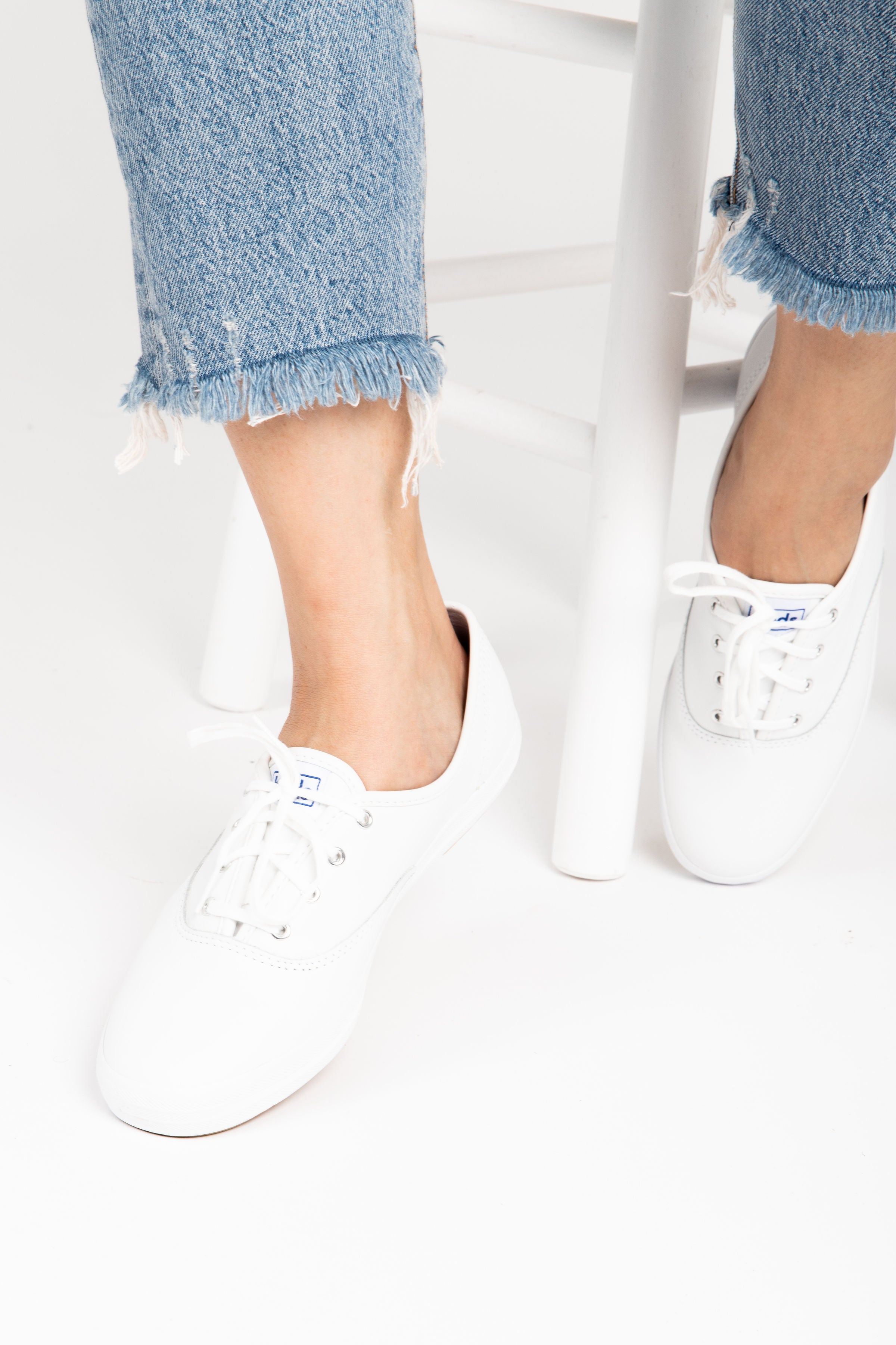 Keds: Champion Originals Leather Sneaker in White