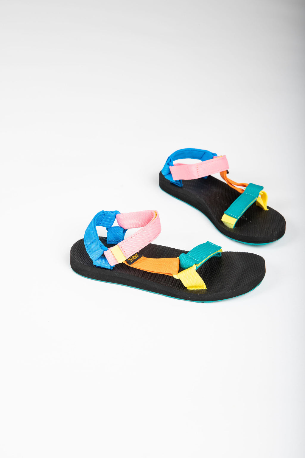 Teva: Original Universal Sandal in 90's Multi, studio shoot; side view