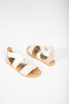 SOREL: Ella Sandal in Ancient Fossil, studio shoot; front view