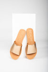 Coconuts by Matisse: Cabana Slide Sandal in Bronze, studio shoot; front view