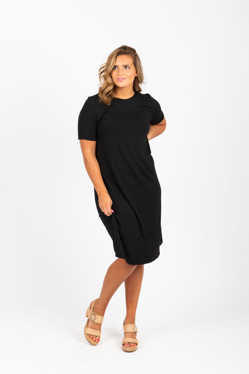 Piper & Scoot: The Prism Basic Detail Dress in Black