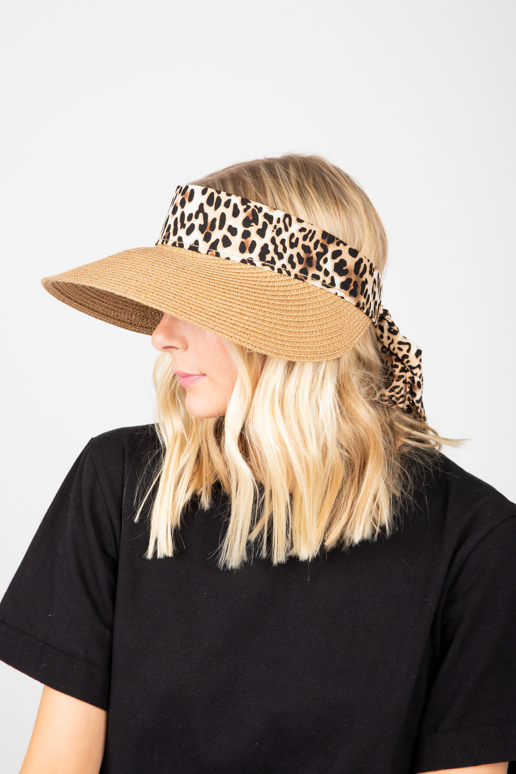 Hat No. 32: Tie Back Viser in Leopard
