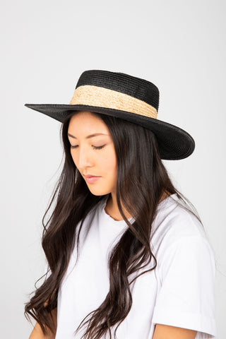 Hat No. 29: Flat Brim Hat in Black