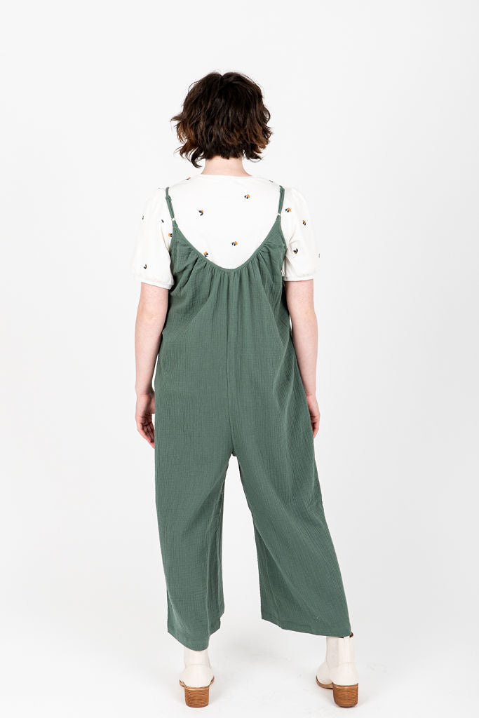 The Andy Casual Jumpsuit in Pine