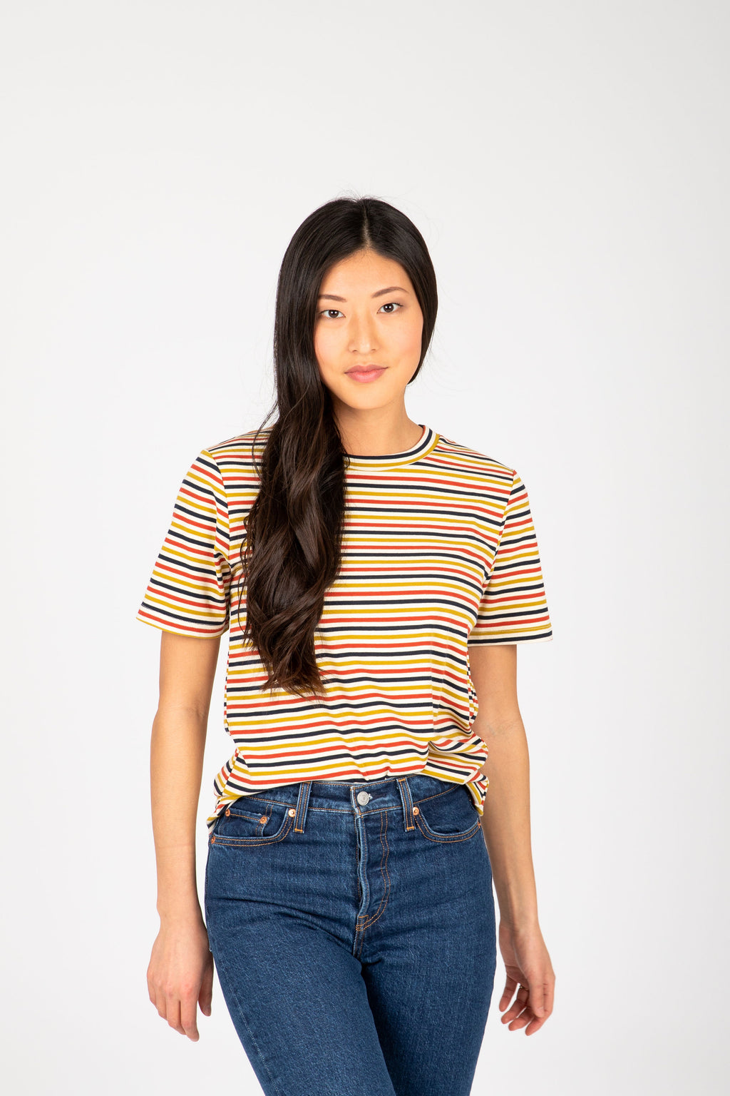 The Annalee Striped Tee in Multi