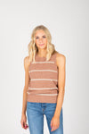 The Luella Striped Tee in White Multi