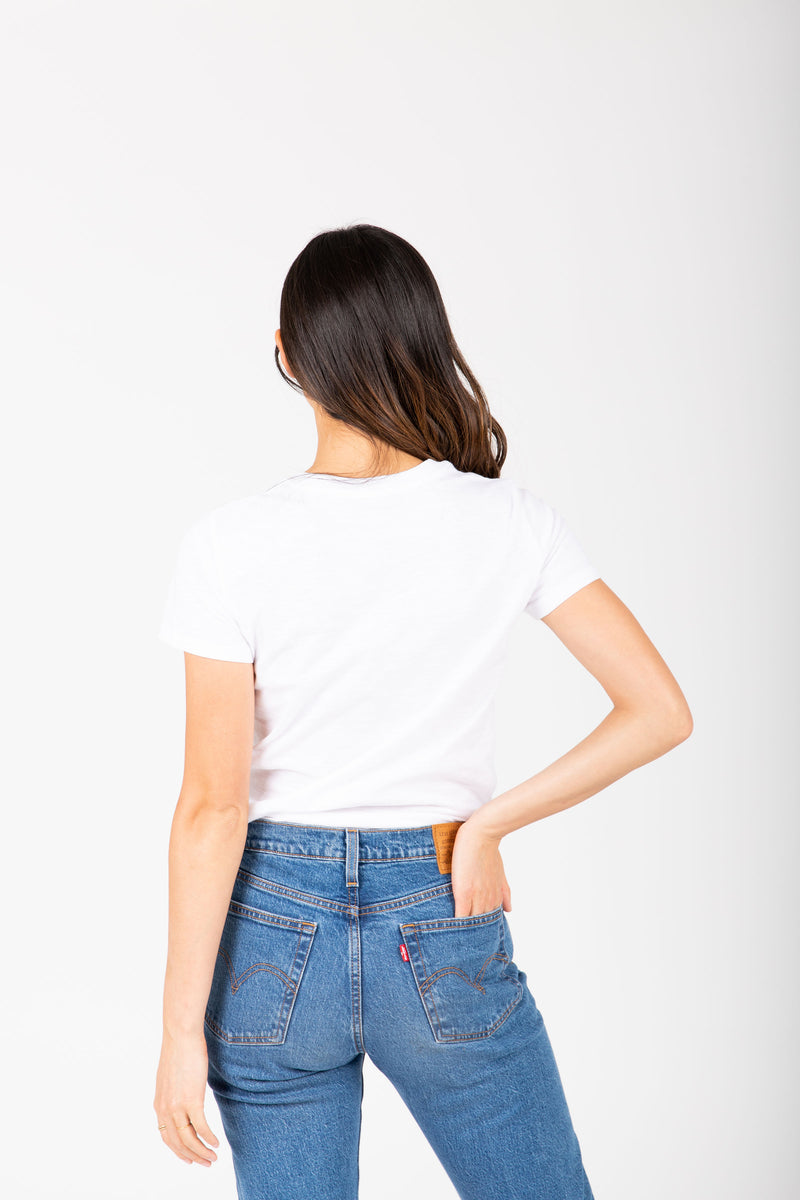Levi's: Blank Perfect Tee in Multi, studio shoot; back view