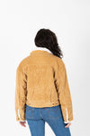 Levi's: Heritage Corduroy Trucker Jacket in Iced Coffee, studio shoot; back view