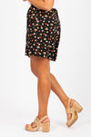 The Bardot Floral Casual Shorts in Black