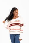The Lynden Striped Knit in Cream