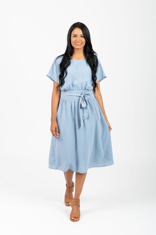 The Chenoa Lace Detail Dress in Periwinkle