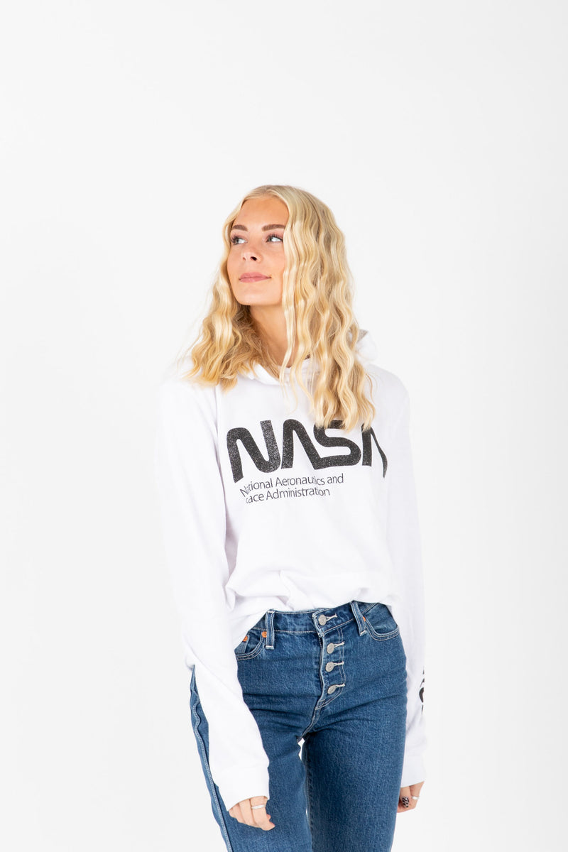 The Nasa Oversized Hoodie in White