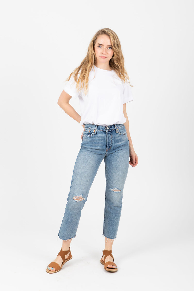 Levi's: Wedgie Fit Straight Jeans in Two Minds