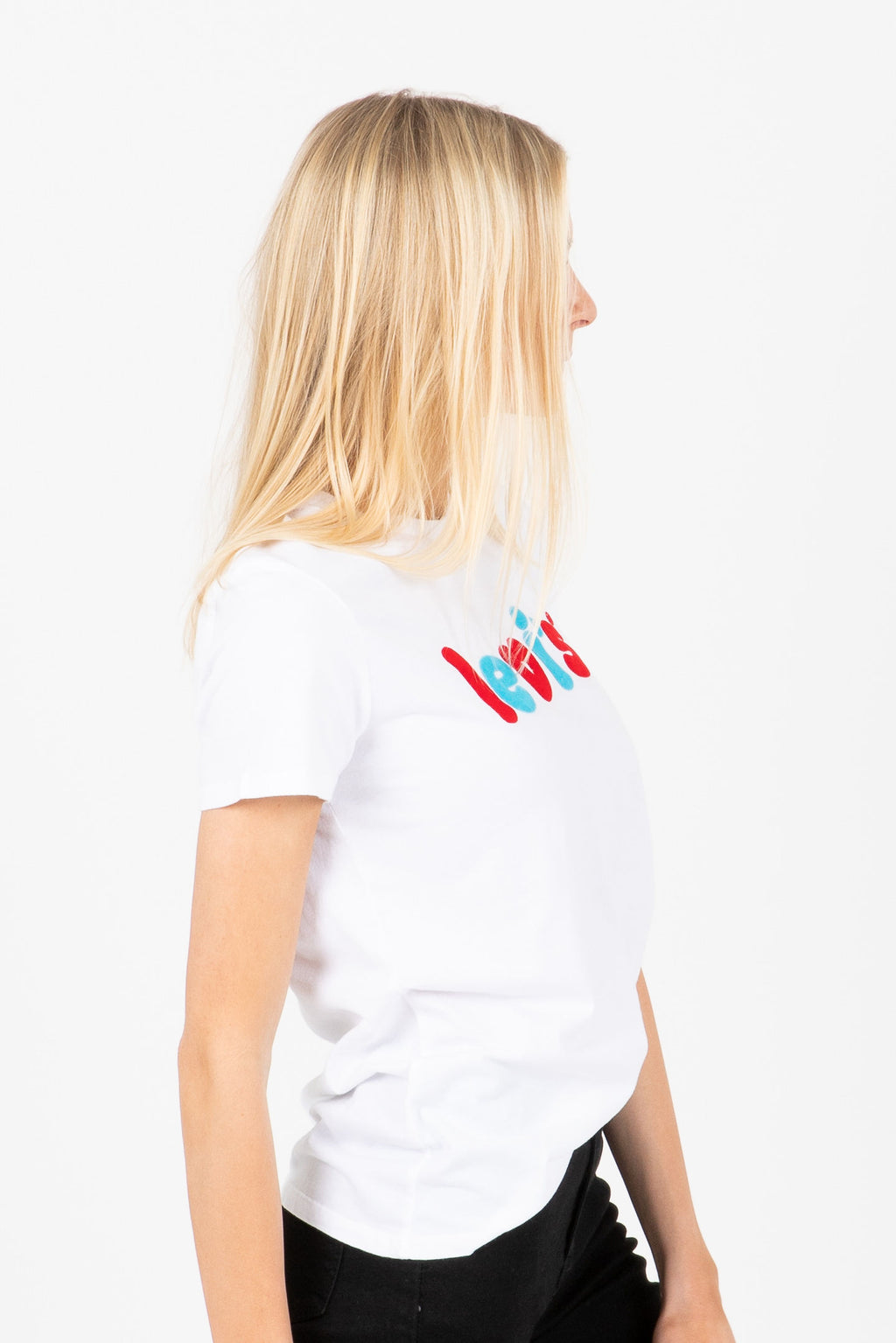 Levi's: The Perfect Tee in Rounded Logo White