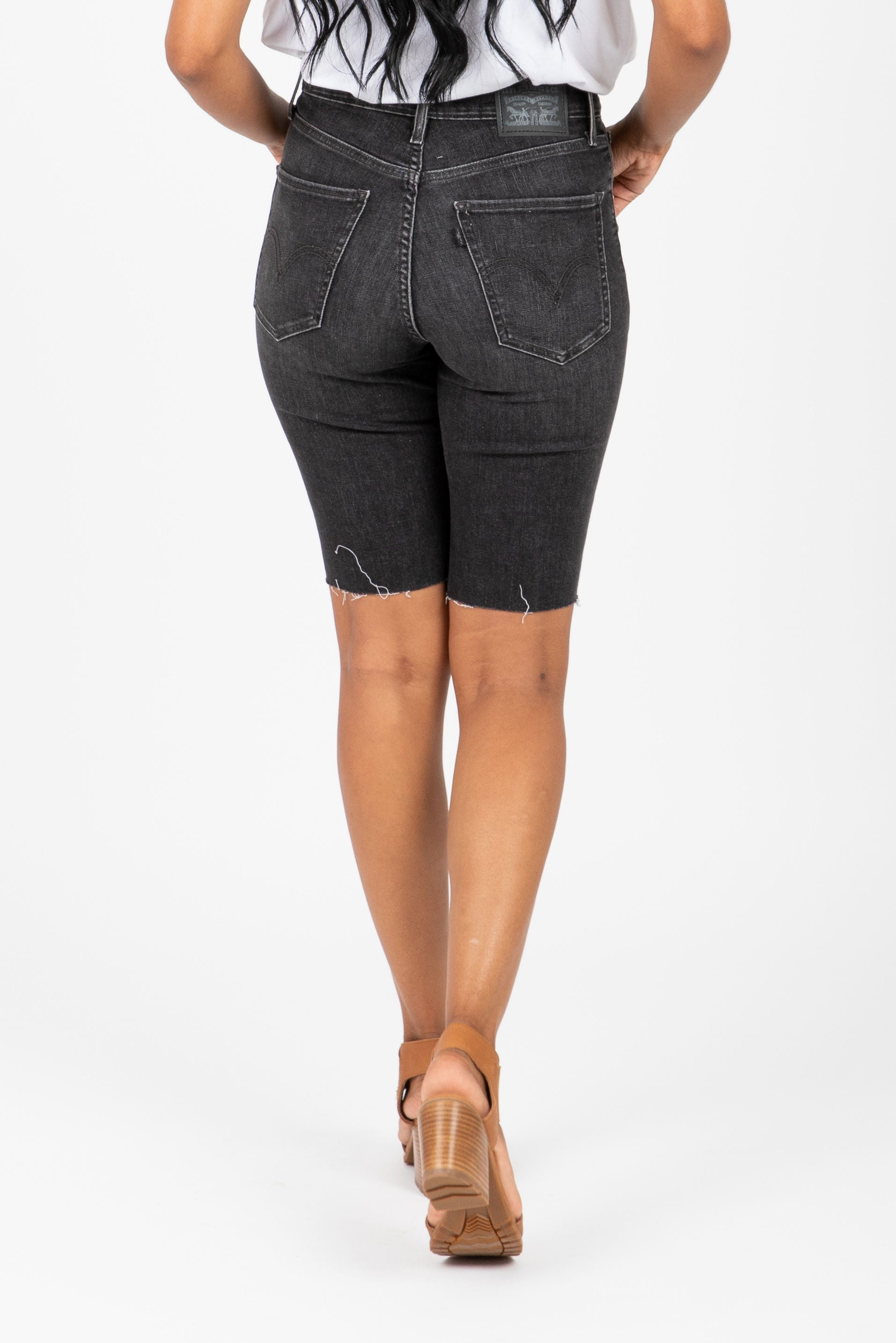 Levi's: Mile High Bike Shorts in No Can Do