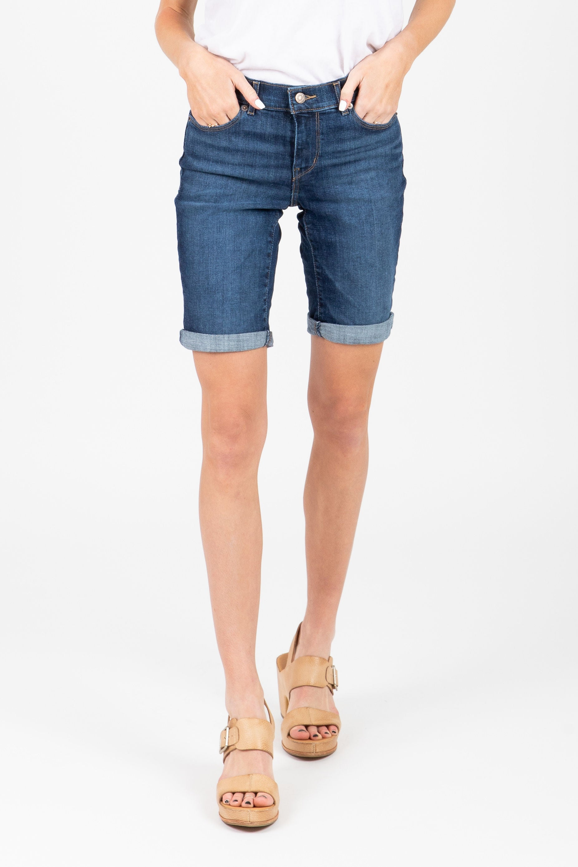 Levi's: Bermuda Shorts in Dark Indigo Moon