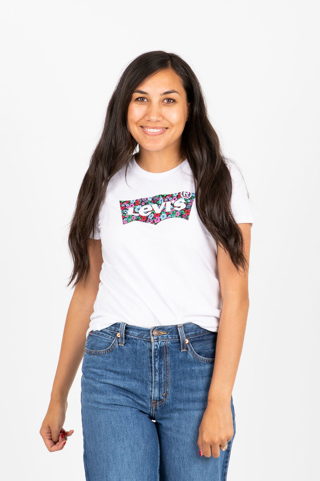 Levi's: Perfect Graphic Tee Shirt in Floral Fill