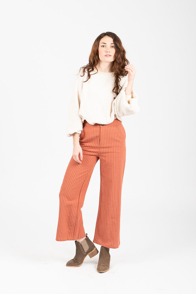 The Crofton High Waisted Pants in Rust