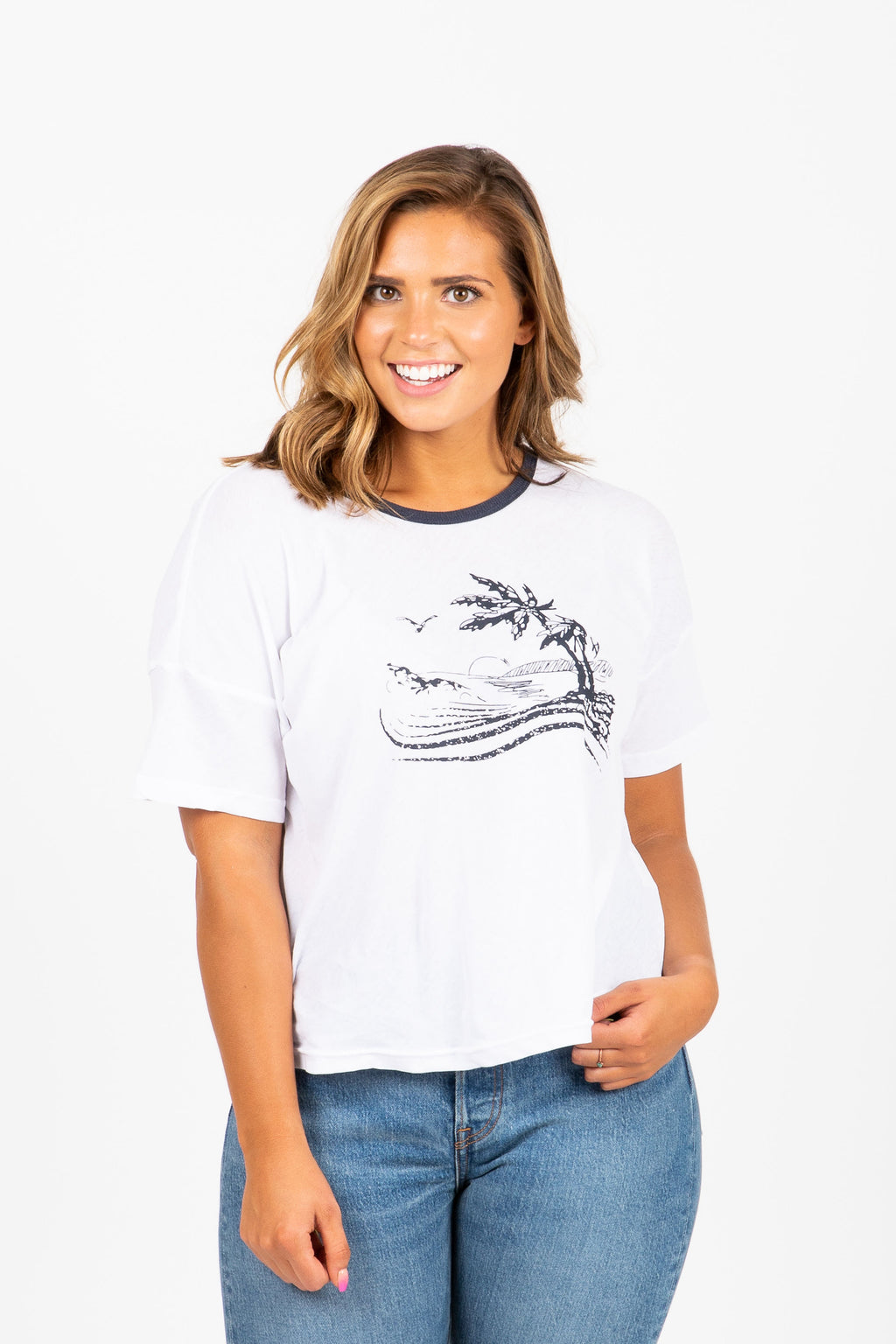 The Lazzi Palms Graphic Tee in White