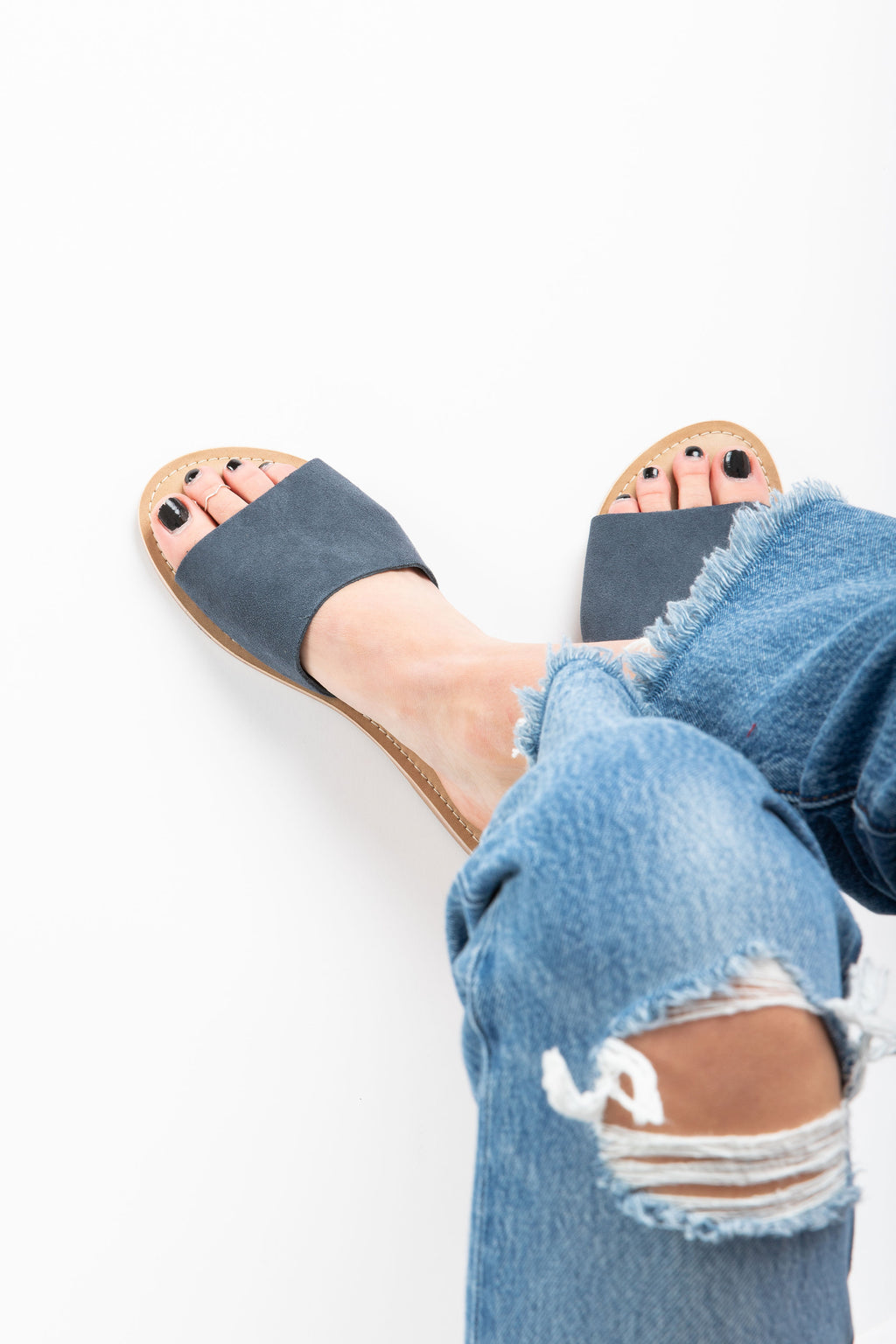Coconuts by Matisse: Cabana Suede Slide Sandal in Navy