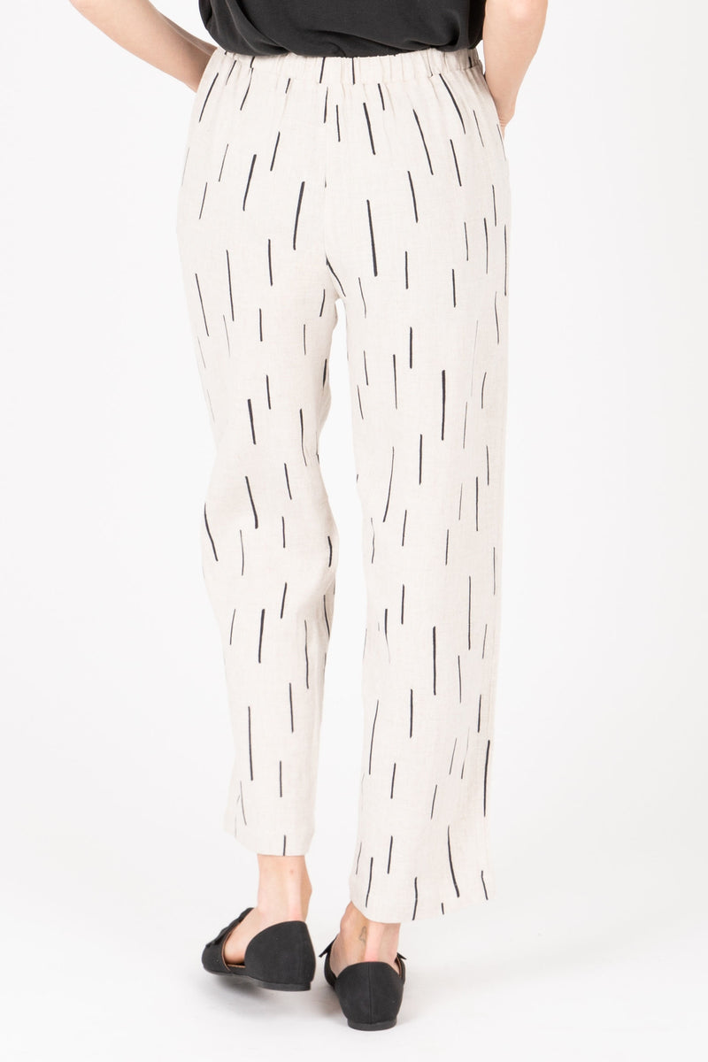 The Gwyneth Dash Trouser in Natural, studio shoot; back view
