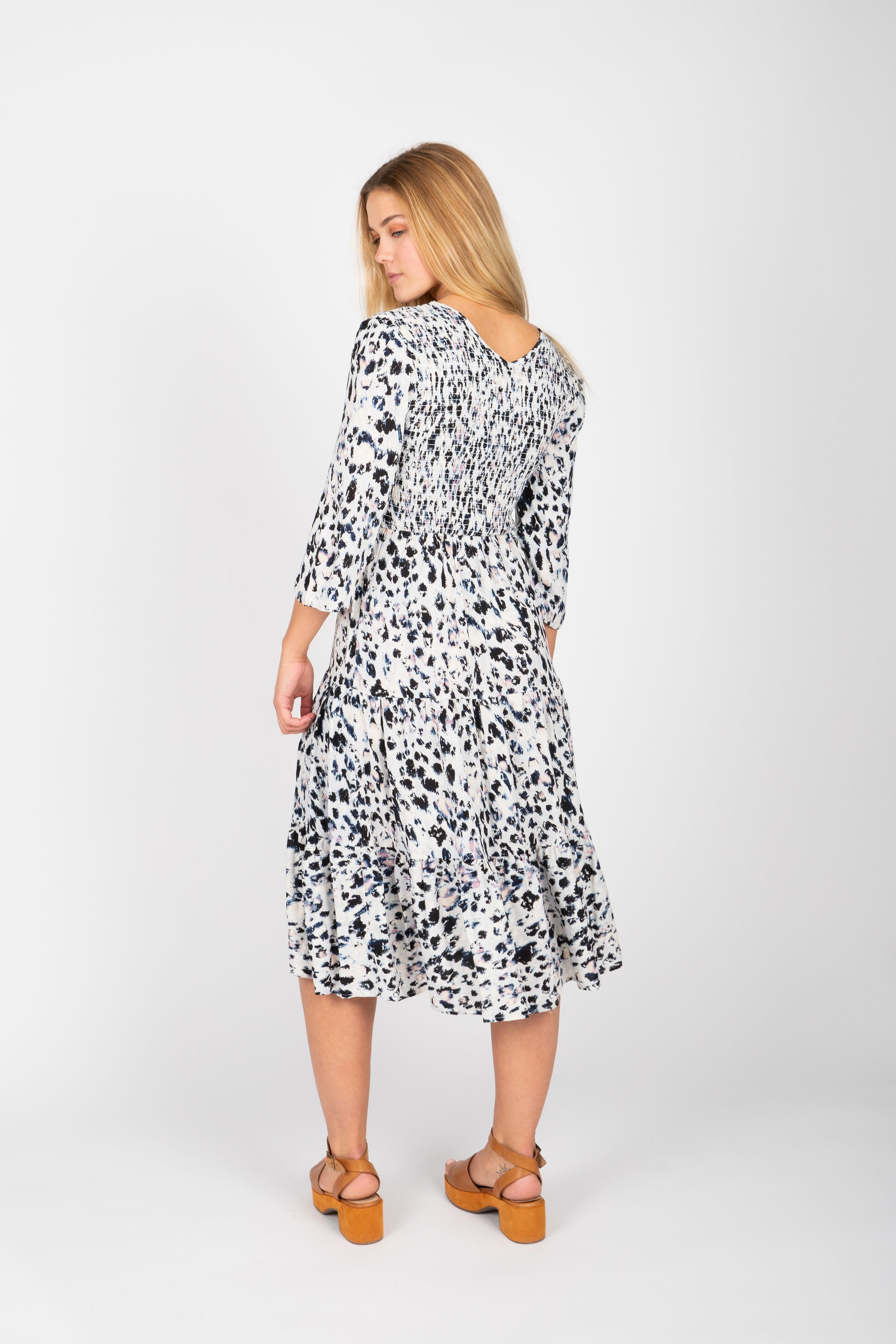 The Amorous Leopard Dress in White