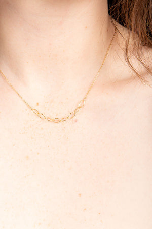 Link Choker Necklace in Gold