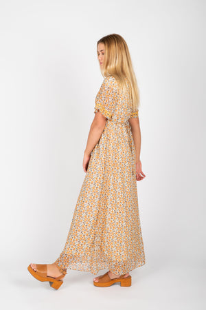 Piper & Scoot: The Shelby Floral Maxi Dress in Mustard