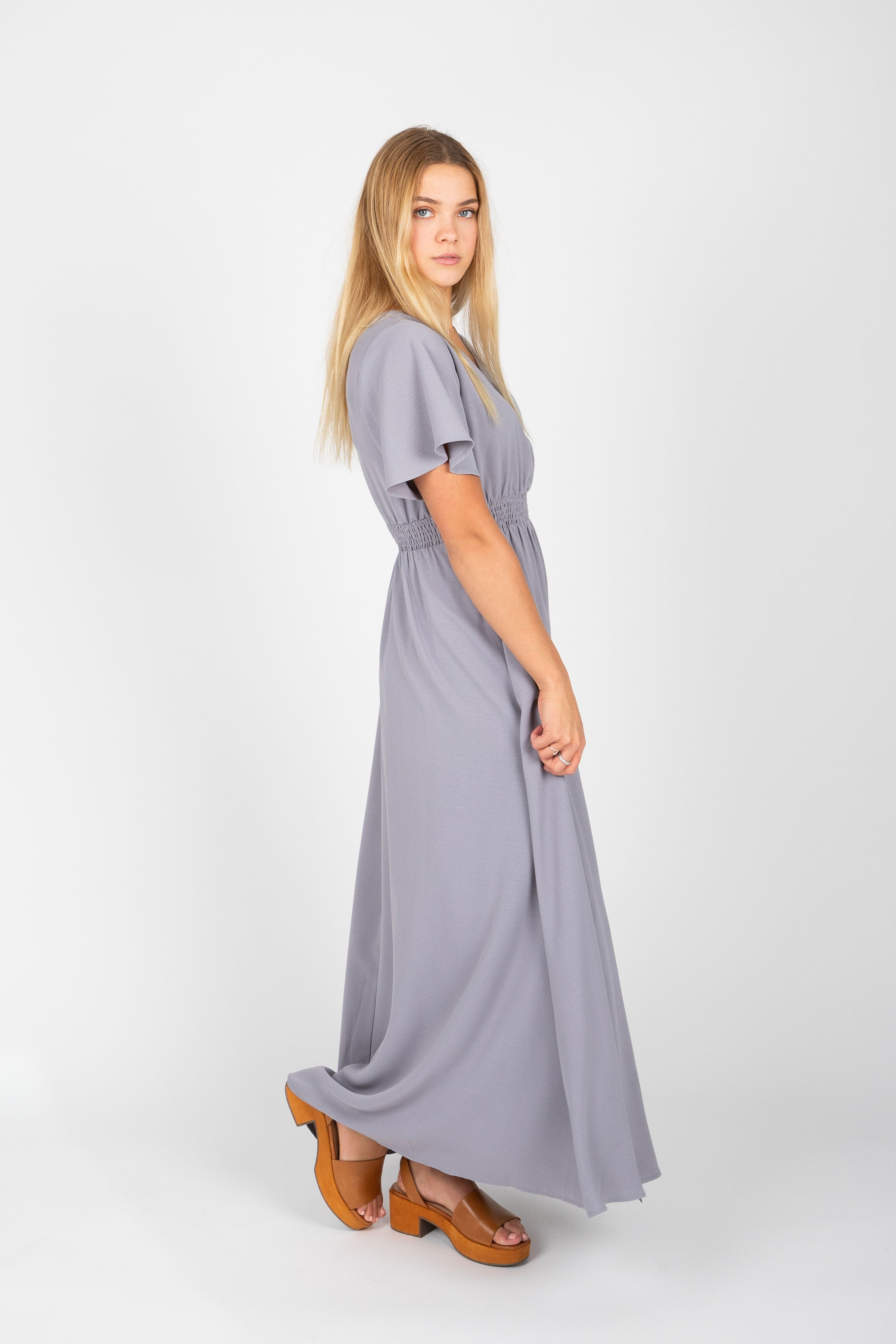 The Timberlake Maxi Dress in Grey