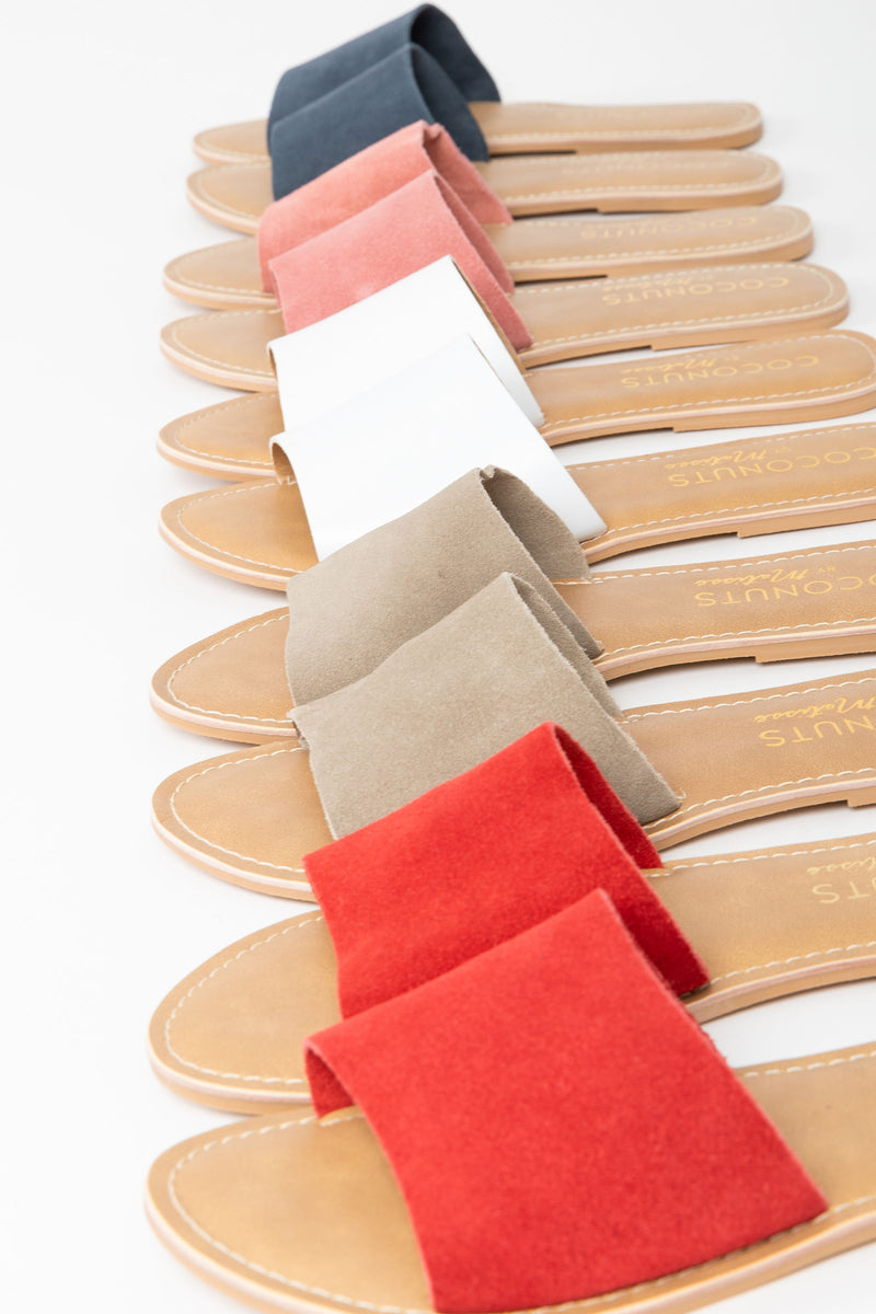 Coconuts by Matisse: Cabana Suede Slide Sandal in Red