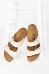 Birkenstock: Arizona Leather in Natural Narrow Fit