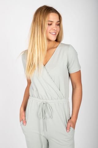 Piper & Scoot: The Bianca Cinch Jumpsuit in Oak