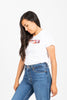 Levi's: Perfect Graphic Tee Shirt in Box Tab Photo Fill White