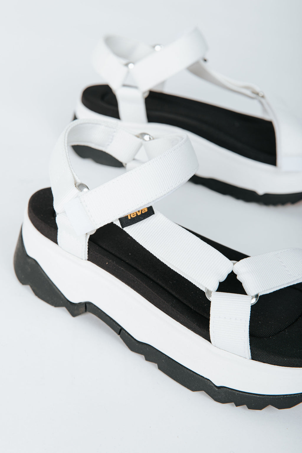 Teva: Jadito Universal in White, studio shoot; front view