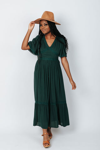 The Banton Pleated Velvet Maxi Dress in Burgundy