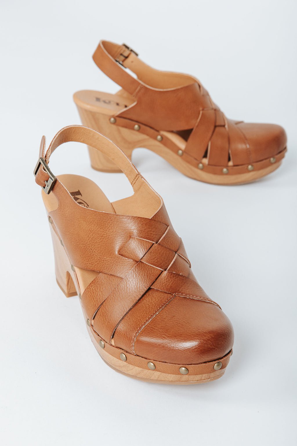 Korks by Korkease: Wynne Platform Clog Sandal in Tan