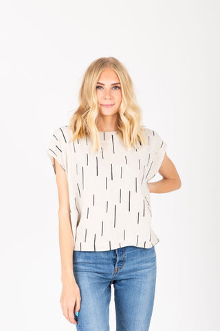 The Taliyah Pleated Peplum Blouse in Grey