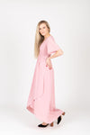 The Fancy Flutter Sleeve Dress in Blush