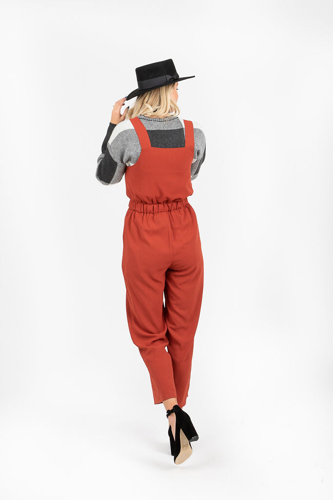 The Nixa Jumper Overalls in Brick