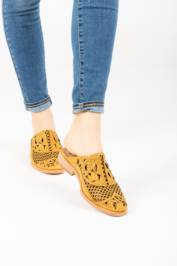 Free People: Paramount Slip-On Loafer in Mustard