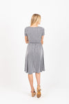 The Tasker Ribbed Casual Dress in Navy