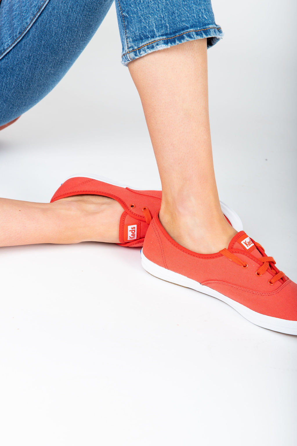 Keds: Champion Sneaker in Canvas Aurora Red
