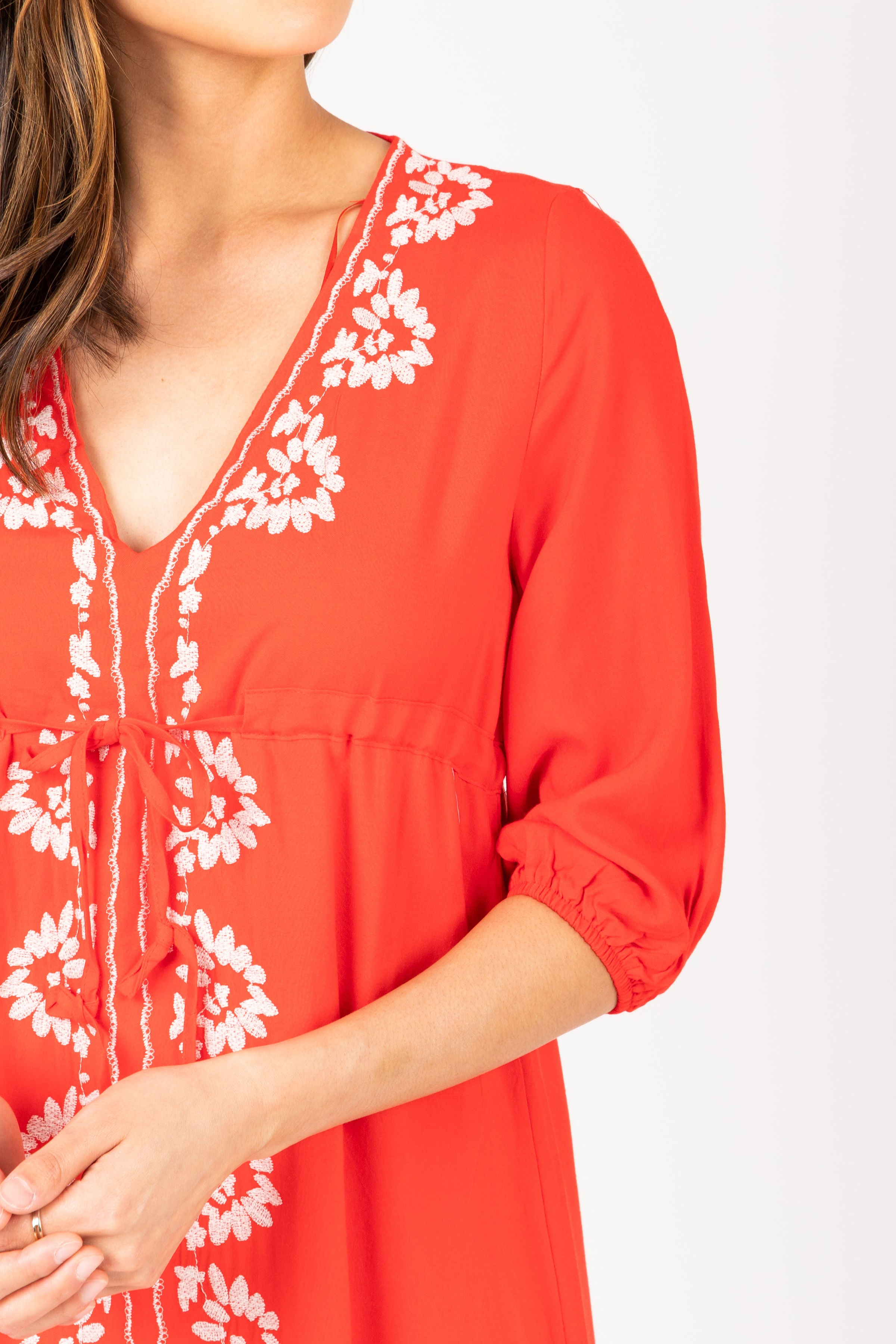 The Craving Floral Peplum Blouse in Poppy