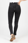 Levi's: Mile High Super Skinny Bootie Jeans in Aces High, studio shoot; back view
