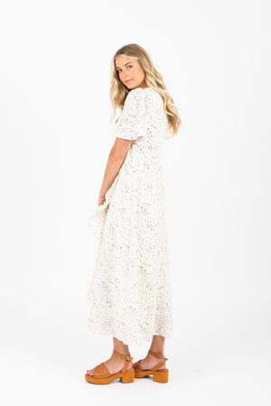 Piper & Scoot: The Schilling Dot Wrap Dress in White