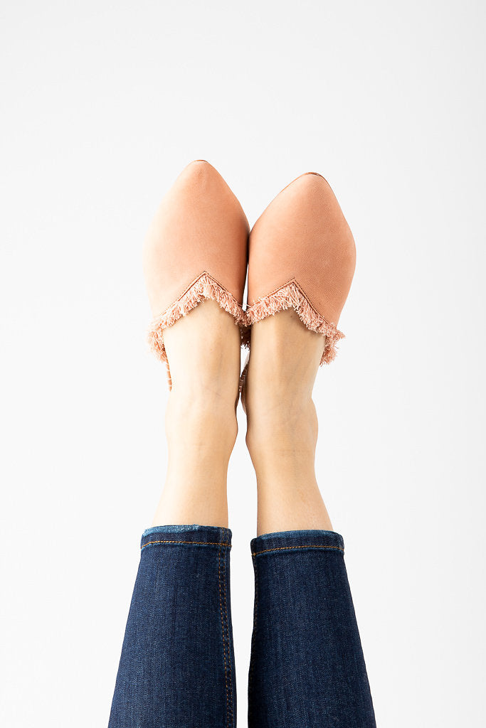 Free People: Leather Newport Flat in Pink