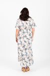 Piper & Scoot: The Jacqueline Floral Wrap Dress in Ivory