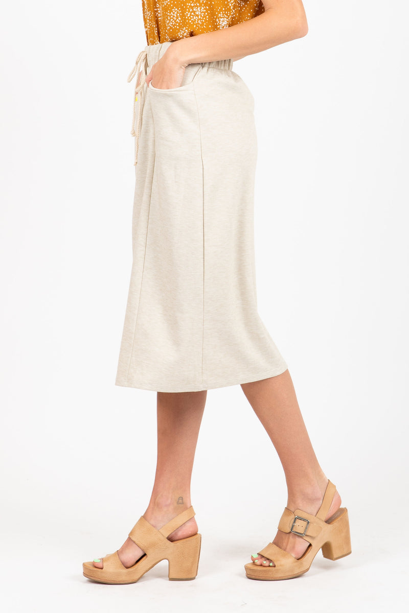 The Reunion Terry Skirt in Oatmeal