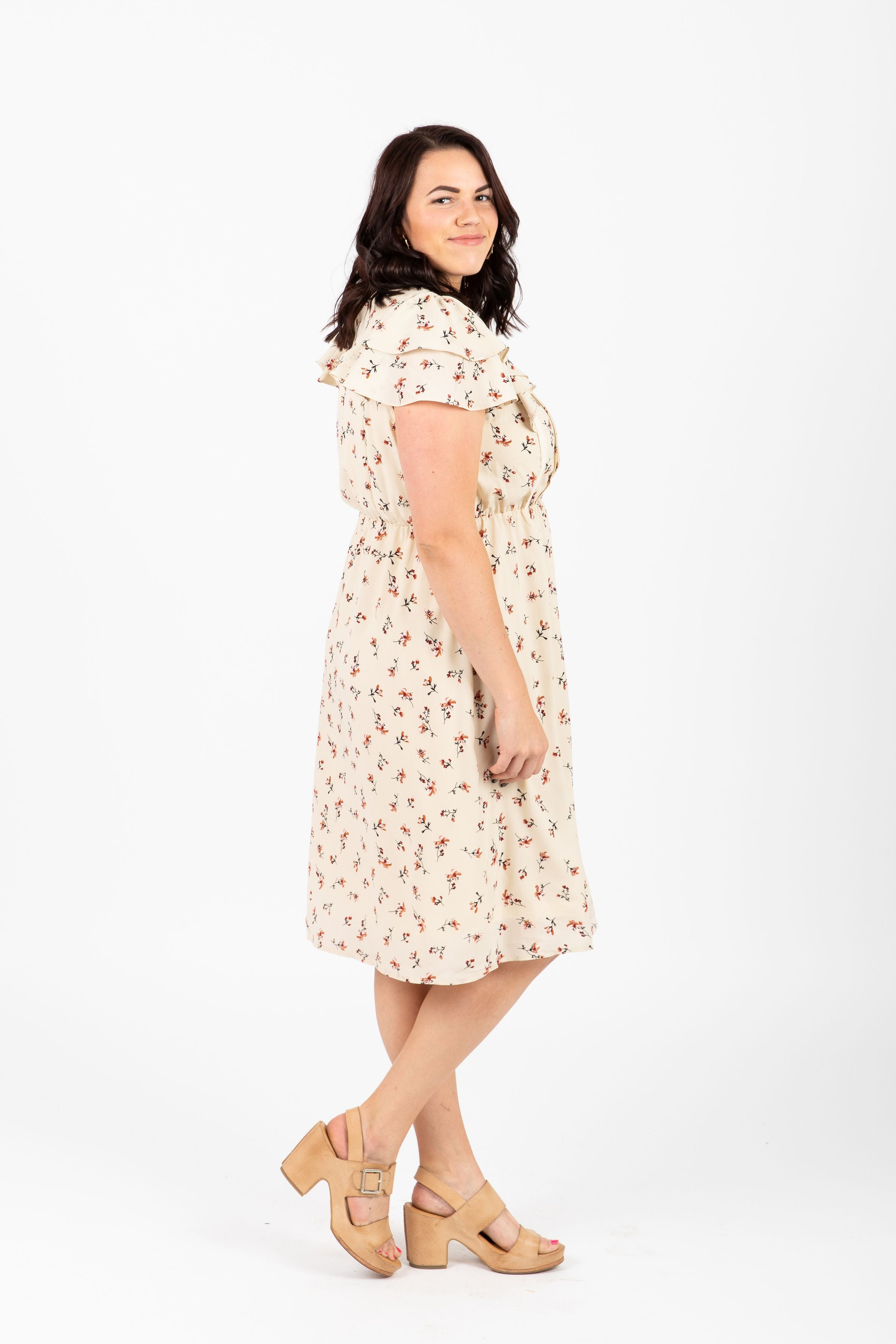 Piper & Scoot: The Impassion Floral Flutter Dress in Cream